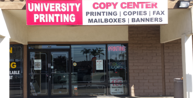 University Printing Store Front